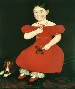 Ammi Phillips - Fillette en robe rouge.jpg