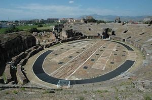 Capua - Inside the amphitheater.