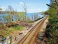 Amtrak tracks looking north from Hudson River Greenway.jpg