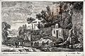 An Italian landscape in which a sick person is being carried Wellcome L0030351.jpg