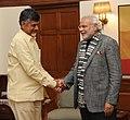 Andhra Pradesh CM N. Chandrababu Naidu meets PM Modi on 15 Jan 2015.jpg