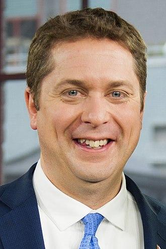 43rd Canadian federal election - Image: Andrew Scheer June 2017 Crop