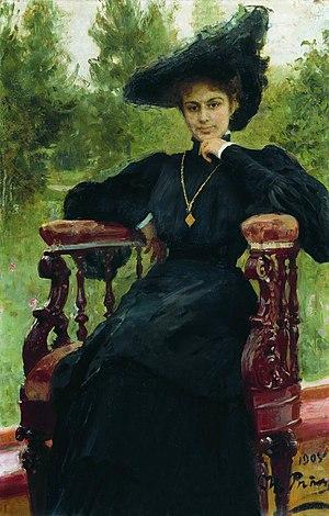 Maria Fyodorovna Andreyeva - Portrait by Ilya Repin