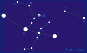 Eta Andromedae - Diagram of Andromeda constellation