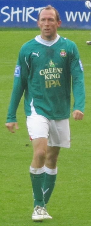 Andy Morrell - Morrell playing for Wrexham in 2011