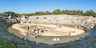 Italica - The Roman amphitheatre at Italica seated 25,000