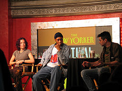 Steve Albini on right, with Ani DiFranco and RZAThe New Yorker festival in September 2005.