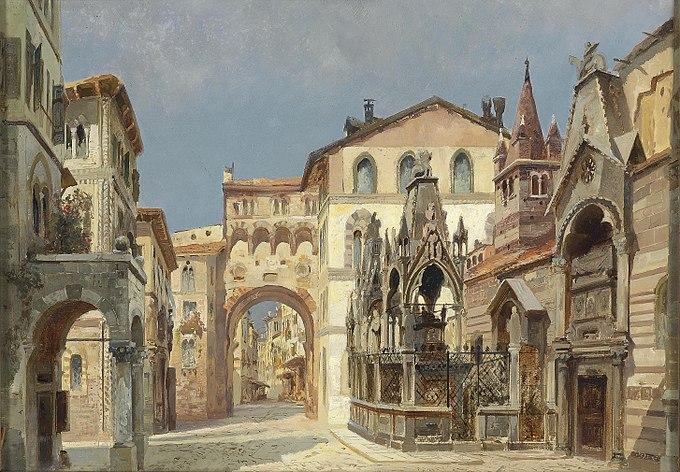 Anton Brioschi Scagliergräber in Verona
