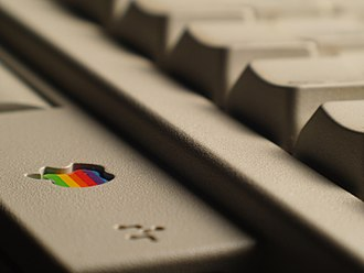 Macintosh Classic - The Apple Keyboard II was the Macintosh Classic's standard keyboard.