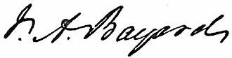 James A. Bayard (elder) - Image: Appletons' Bayard James Asheton signature