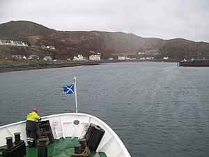Mallaig - Image: Approaching Mallaig harbour by ferry