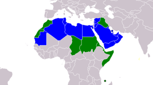 Map of Majority and Minority Arabic Speakers