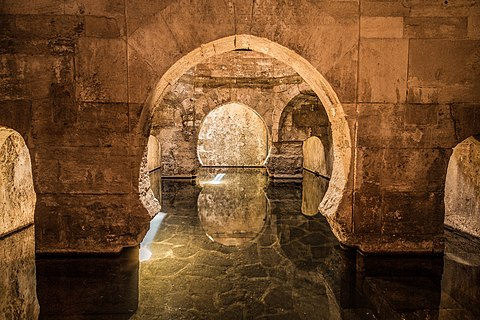 Arabs Baths of Alhama de Granada in Andalusia Spain
