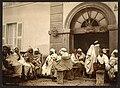 Arabs at a cafe, Algiers, Algeria-LCCN2001697836.jpg