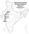 Aravali Express (Mumbai - Jaipur) Route map.jpg