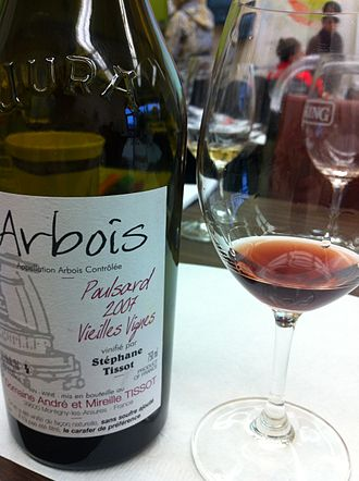 Jura wine - A Poulsard wine from the Arbois AOC.