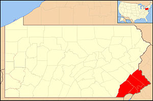 Roman Catholic Archdiocese of Philadelphia - Image: Archdiocese of Philadelphia map 1