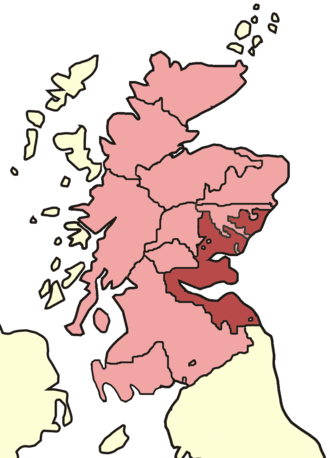 Archdiocese of St Andrews - Skene's map of Scottish bishoprics in the reign of David I (reigned 1124–1153).