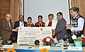 Arjun Ram Meghwal presenting the awards for an All India Quiz Competition on Water for Students of Class 6-8, at a function, organised by the Central Water Commission, in New Delhi (2).jpg