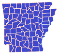 Arkansas Republican primary, 2008.png
