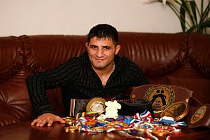 Wrestling in Armenia - Wrestler Armen Nazaryan is Armenia's first Olympic champion