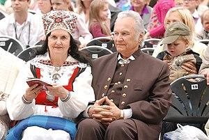 Arnold Rüütel - Image: Arnold and Ingrid Rüütel Laulupidu 2009