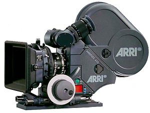 Camera magazine - Arriflex 435 Xtreme camera with magazine attached to the back.