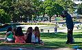 Art class, Plaza Intendente Alvear, Recoleta, Buenos Aires, Argentina, 13th. Jan. 2011 - Flickr - PhillipC.jpg