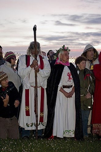 Neo-Druidism - Arthur Uther Pendragon attending 2010 Summer Solstice ceremony at Stonehenge.