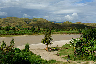 Haiti's Artibonite River, the first place the outbreak spread Artibonite River in Haiti (2010).jpg