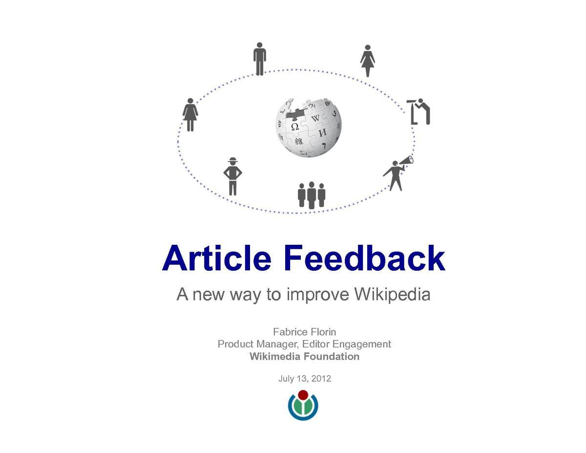 article feedback
