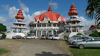 Religion in Suriname - Arya Dewaker, an Arya Samaj Hindu Mandir in Paramaribo.