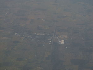 Ashley, Indiana - Aerial photo of Ashley, 2012
