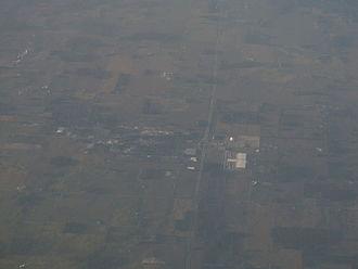 Ashley, Indiana - Aerial photo of Ashley, 2012