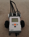 Assembled line following robot - front view.png