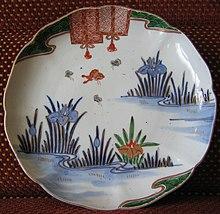 Une assiette japonaise en porcelaine (ère Meiji)