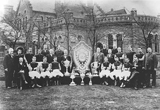1897 FA Cup Final - The Aston Villa team of 1897 that won The Double