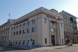 Astoria City Hall center of government in Astoria, Oregon, USA