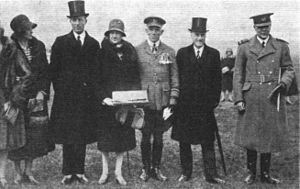 Royal Air Force College Cranwell - The dignitaries present for the founding ceremony for the new College Hall building in 1929.