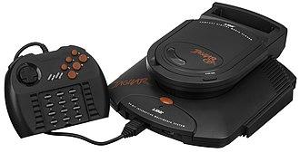 Fifth generation of video game consoles - Image: Atari Jaguar CD w Pro Controller