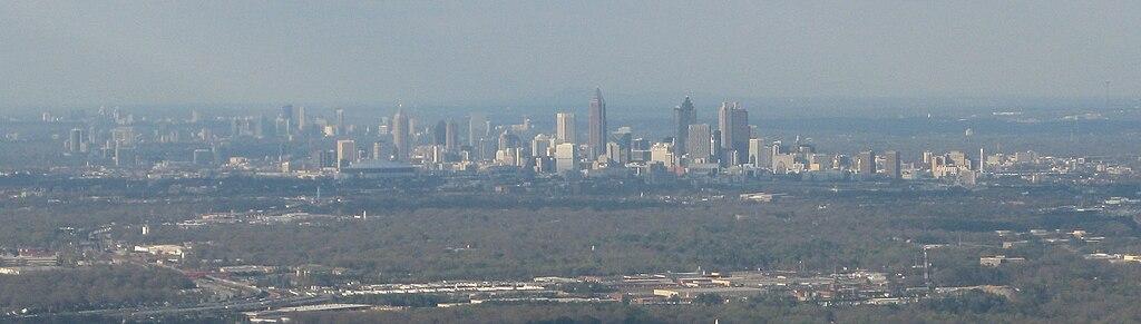 View of Metro-Atlanta from an aircraft, 03-2008.