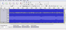 Screenshot di Audacity