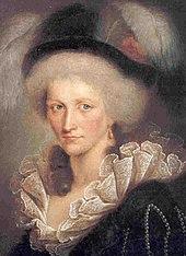 Pictură în ulei reprezentând portretul lui Augusta Reuss din Ebersdorf