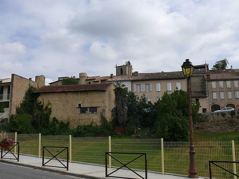 The village of Aurignac (Haute-Garonne, Midi-Pyrénées, France).