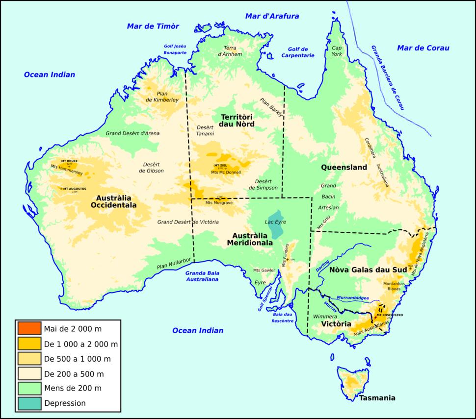 Austràlia - Topografia