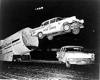 Missouri State Fair - Auto daredevil show at the Missouri State Fair, 1960s
