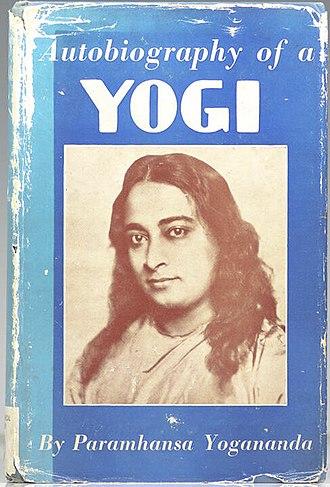 Paramahansa Yogananda - Cover of first edition of Autobiography of a Yogi
