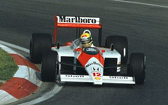 Formula One drivers from Brazil - Ayrton Senna in his 1988 McLaren