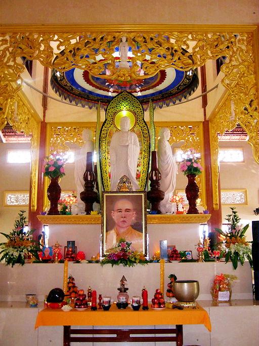Bàn thờ Thích Thiện Quang