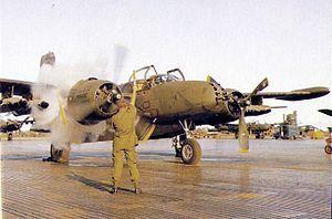Nakhon Phanom Royal Thai Navy Base - A 609th SOS A-26K starting engines in 1969